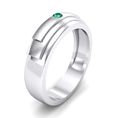 Dais Single Stone Emerald Ring (0.03 CTW)