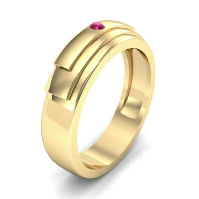 Dais Single Stone Ruby Ring (0.03 CTW) Perspective View