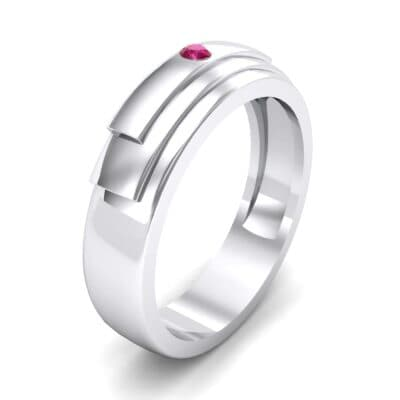 Dais Single Stone Ruby Ring (0.03 CTW)