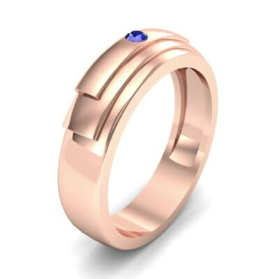Dais Single Stone Blue Sapphire Ring (0.03 CTW)
