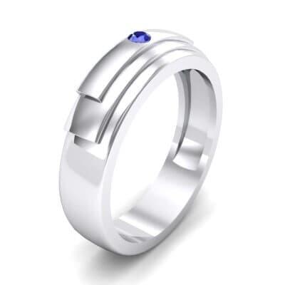 Dais Single Stone Blue Sapphire Ring (0.03 CTW)
