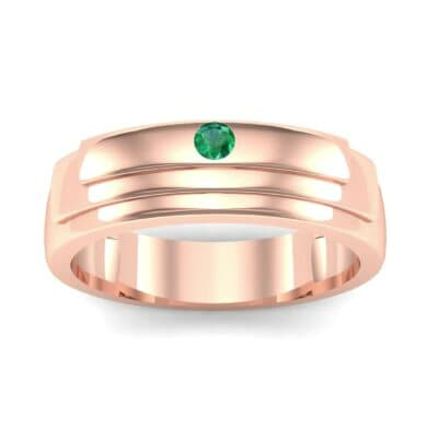 Dais Single Stone Emerald Ring (0.03 CTW) Top Dynamic View