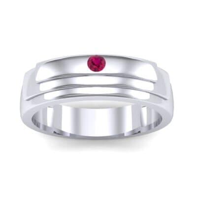 Dais Single Stone Ruby Ring (0.03 CTW) Top Dynamic View