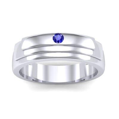 Dais Single Stone Blue Sapphire Ring (0.03 CTW) Top Dynamic View