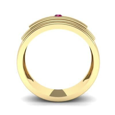 Dais Single Stone Ruby Ring (0.03 CTW) Side View