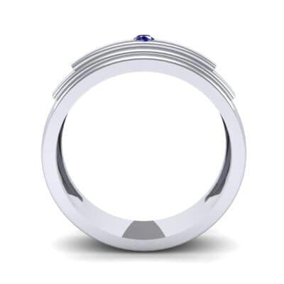 Dais Single Stone Blue Sapphire Ring (0.03 CTW) Side View
