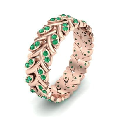 Marquise Twig Emerald Ring (0.39 CTW) Perspective View