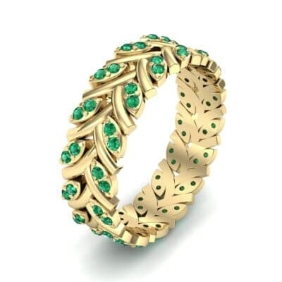 Marquise Twig Emerald Ring (0.39 CTW)