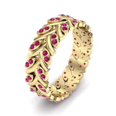 Marquise Twig Ruby Ring (0.39 CTW) Perspective View