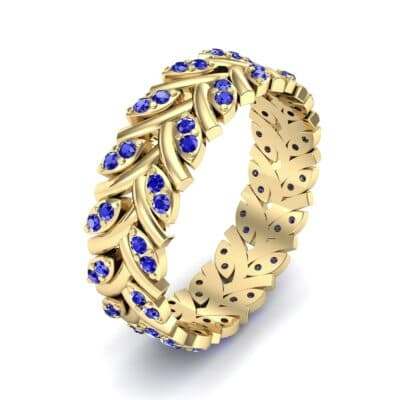 Marquise Twig Blue Sapphire Ring (0.39 CTW) Perspective View