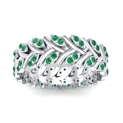 Marquise Twig Emerald Ring (0.39 CTW) Top Dynamic View