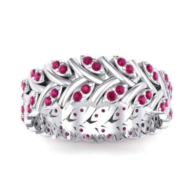 Marquise Twig Ruby Ring (0.39 CTW) Top Dynamic View