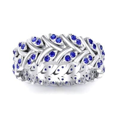Marquise Twig Blue Sapphire Ring (0.39 CTW) Top Dynamic View