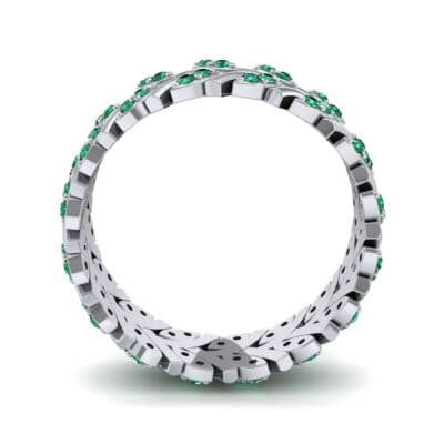 Marquise Twig Emerald Ring (0.39 CTW) Side View