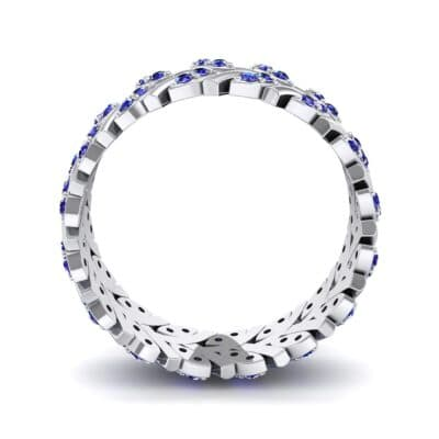 Marquise Twig Blue Sapphire Ring (0.39 CTW) Side View