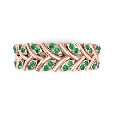 Marquise Twig Emerald Ring (0.39 CTW) Top Flat View