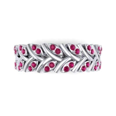 Marquise Twig Ruby Ring (0.39 CTW) Top Flat View