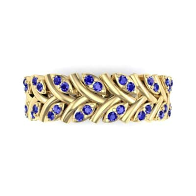 Marquise Twig Blue Sapphire Ring (0.39 CTW) Top Flat View