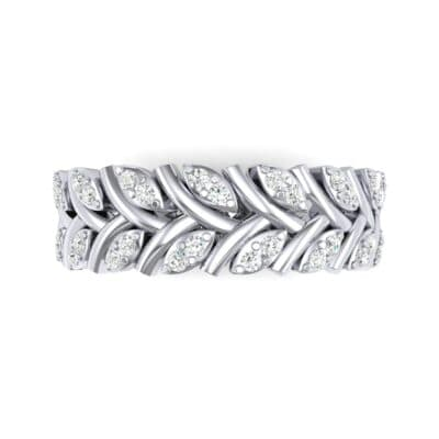 Marquise Twig Diamond Ring (0.39 CTW) Top Flat View
