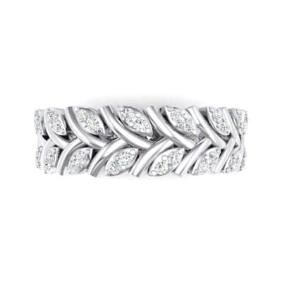 Marquise Twig Crystal Ring (0.39 CTW) Top Flat View