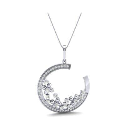 Open Circle Flora Diamond Pendant (0.86 CTW) Top Dynamic View