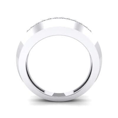 Beveled Edge Inset Pave Crystal Ring (0.16 CTW) Side View