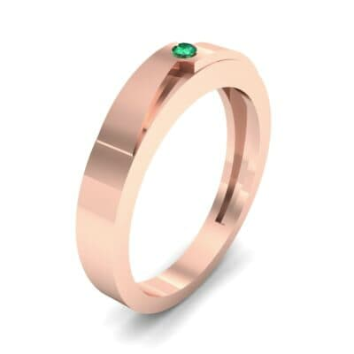 Vault Solitaire Emerald Ring (0.02 CTW) Perspective View