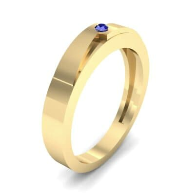 Vault Solitaire Blue Sapphire Ring (0.02 CTW) Perspective View