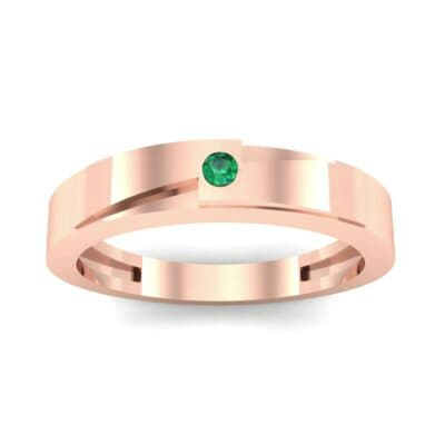 Vault Solitaire Emerald Ring (0.02 CTW) Top Dynamic View