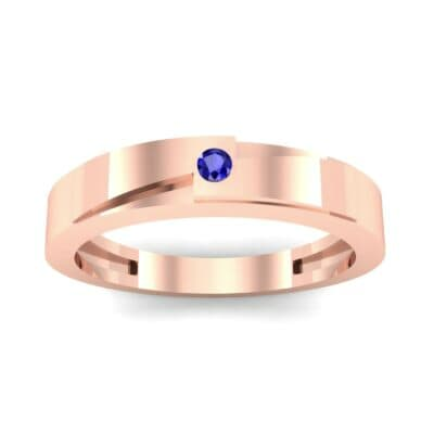 Vault Solitaire Blue Sapphire Ring (0.02 CTW) Top Dynamic View
