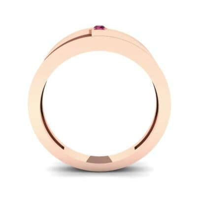 Vault Solitaire Ruby Ring (0.02 CTW) Side View
