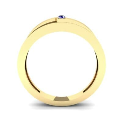 Vault Solitaire Blue Sapphire Ring (0.02 CTW) Side View