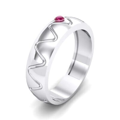 Wide Etch Ruby Ring (0.04 CTW) Perspective View