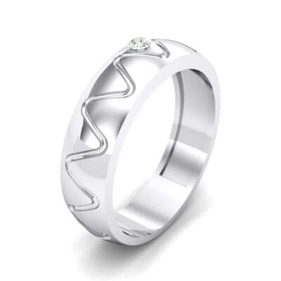 Wide Etch Crystal Ring (0.04 CTW) Perspective View
