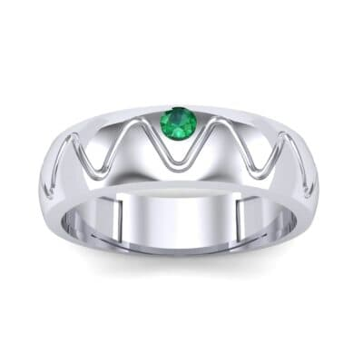 Wide Etch Emerald Ring (0.04 CTW) Top Dynamic View