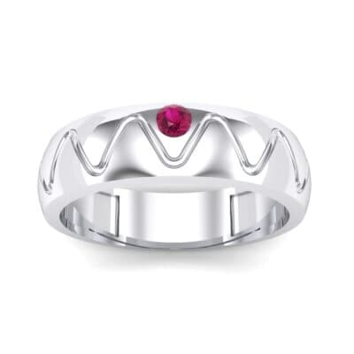 Wide Etch Ruby Ring (0.04 CTW) Top Dynamic View
