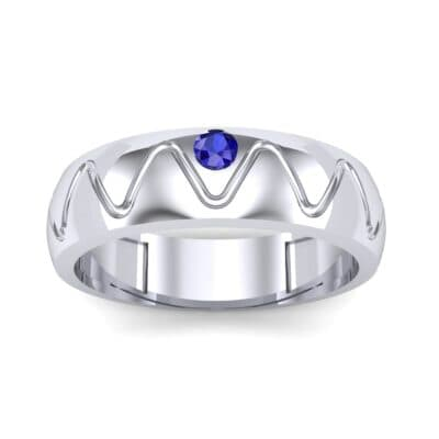 Wide Etch Blue Sapphire Ring (0.04 CTW) Top Dynamic View