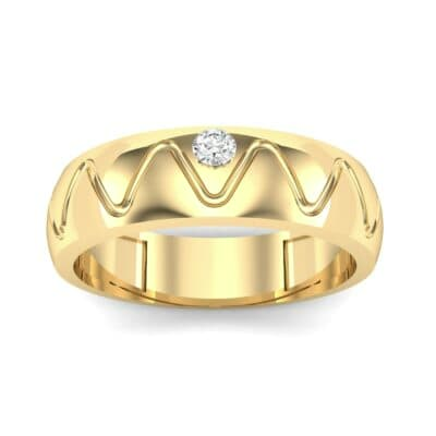 Wide Etch Diamond Ring (0.04 CTW) Top Dynamic View