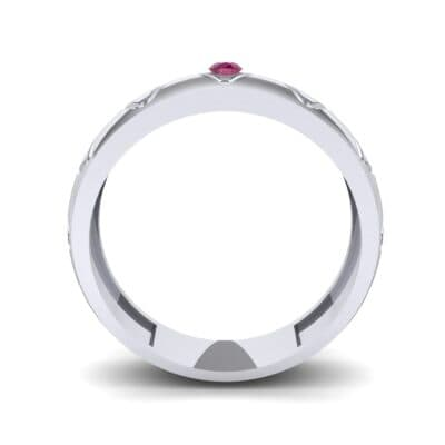 Wide Etch Ruby Ring (0.04 CTW) Side View