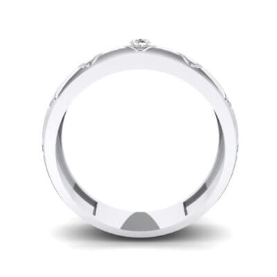 Wide Etch Crystal Ring (0.04 CTW) Side View