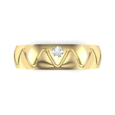 Wide Etch Diamond Ring (0.04 CTW) Top Flat View