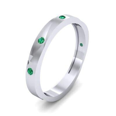 Vault Emerald Ring (0.08 CTW) Perspective View