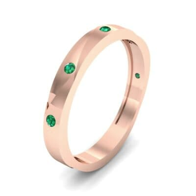 Vault Emerald Ring (0.08 CTW) Perspective View