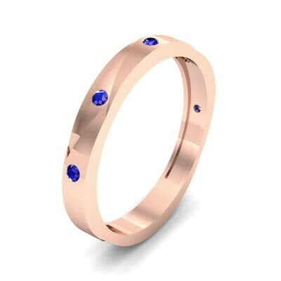 Vault Blue Sapphire Ring (0.08 CTW) Perspective View