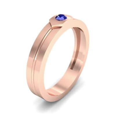 Hexa Solitaire Blue Sapphire Ring (0.06 CTW)