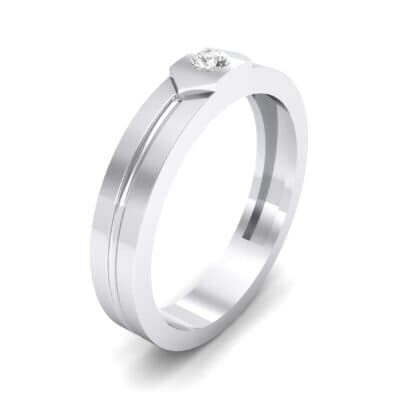 Hexa Solitaire Diamond Ring (0.06 CTW) Perspective View