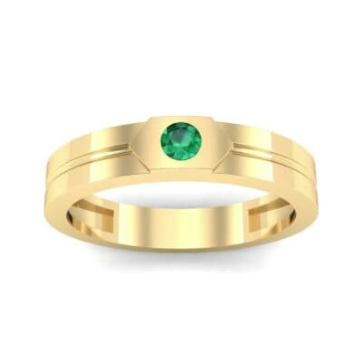 Hexa Solitaire Emerald Ring (0.06 CTW) Top Dynamic View