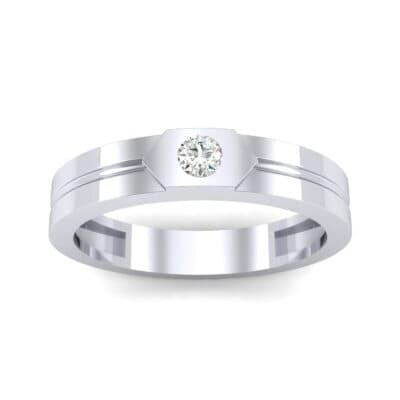 Hexa Solitaire Diamond Ring (0.06 CTW) Top Dynamic View