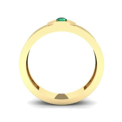 Hexa Solitaire Emerald Ring (0.06 CTW) Side View