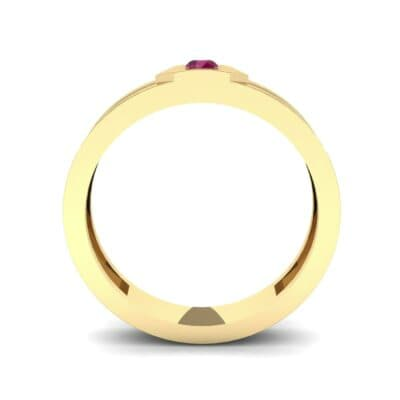 Hexa Solitaire Ruby Ring (0.06 CTW) Side View